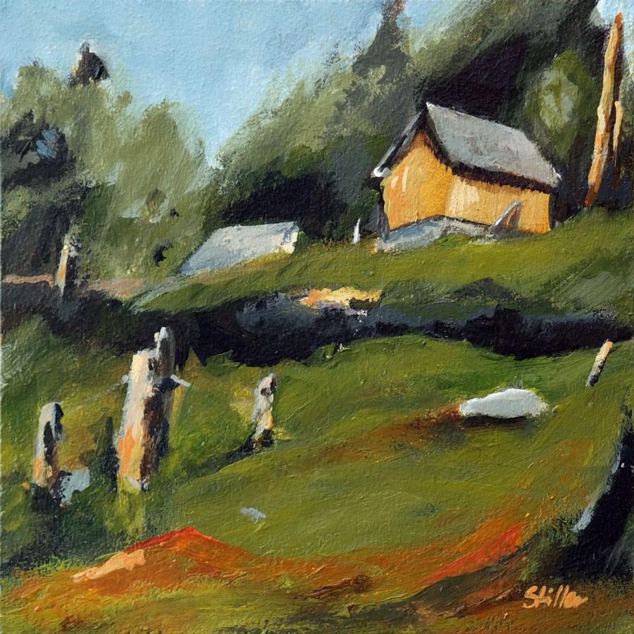 """1674 Farm House Variation"" original fine art by Dietmar Stiller"