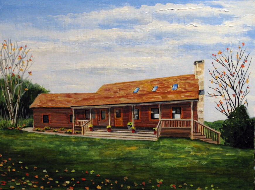 """Wooden Ranch"" original fine art by Nan Johnson"