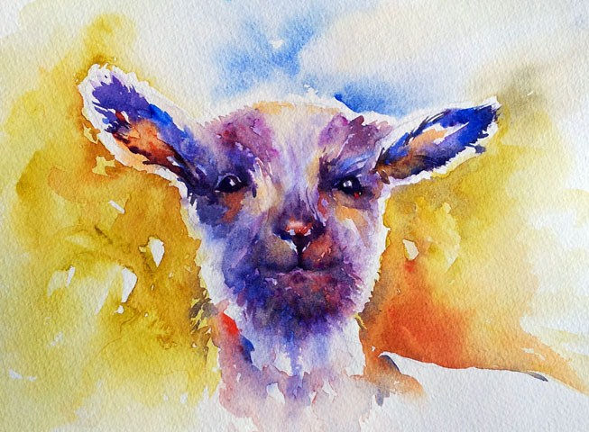"""Little Lamb"" original fine art by Arti Chauhan"