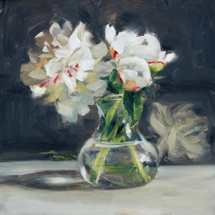 """Peonies in a Vase"" original fine art by Deb Anderson"