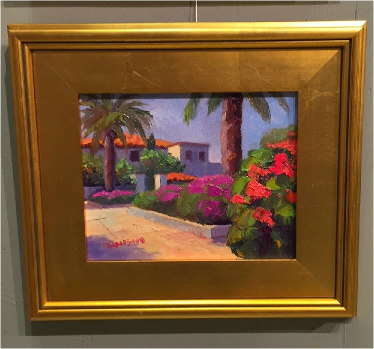 """""""Afternoon Garden, 8x10, oil on panel, plein air, Lighthouse Plein air Festival, Palm Beach, Jupite"""" original fine art by Maryanne Jacobsen"""