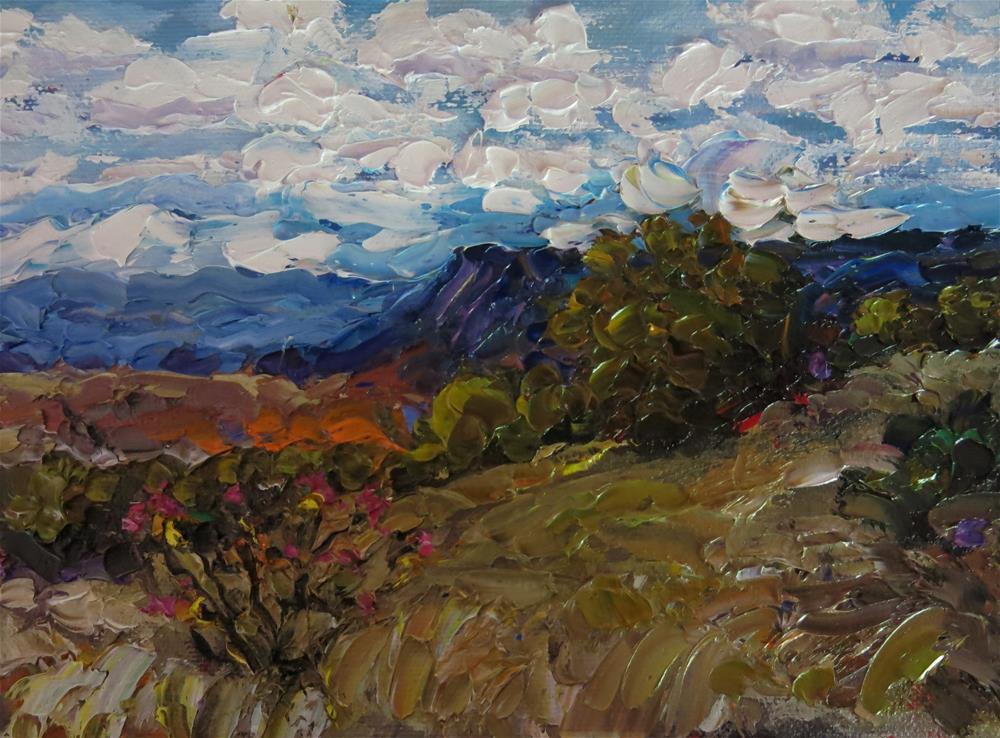 """SUMMER ON THE MESA"" original fine art by Dee Sanchez"