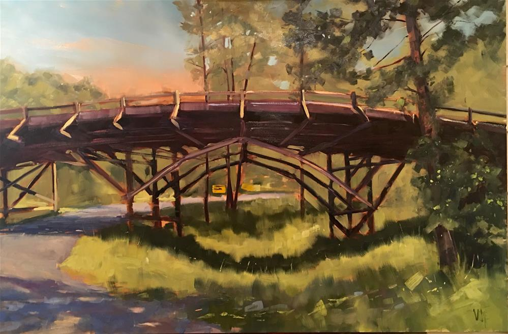"""#418 Iron Mountain Bridge"" original fine art by Patty Voje"