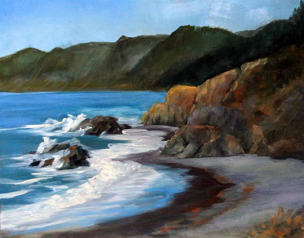 """""""Overlooking Little Black Sands Beach"""" original fine art by Cietha Wilson"""