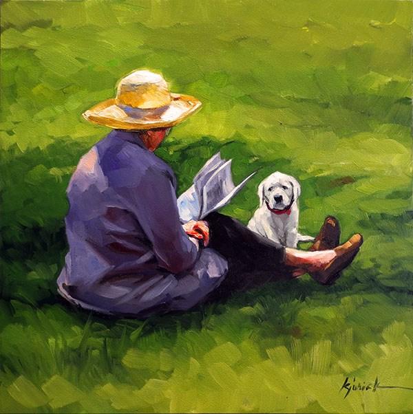"""Patience"" original fine art by Karin Jurick"