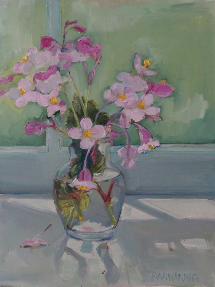 """Wild Begonias"" original fine art by Merle Manwaring"
