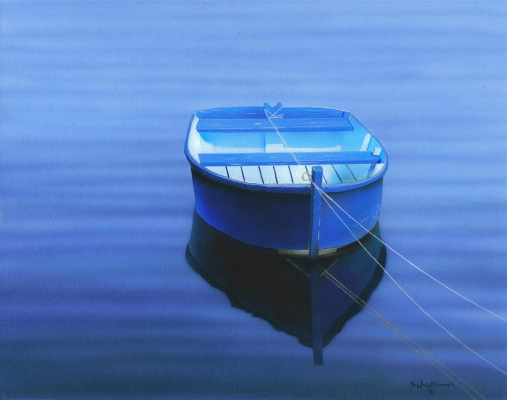 """Blue Reflections"" original fine art by Fred Schollmeyer"