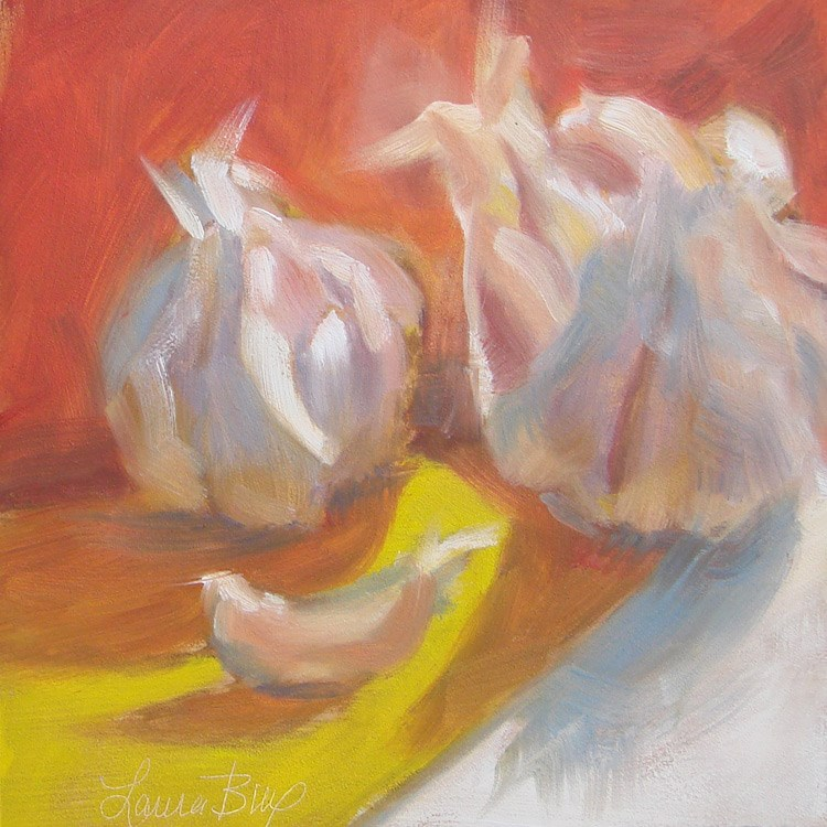 """Hot Garlic 431"" original fine art by Laura  Buxo"