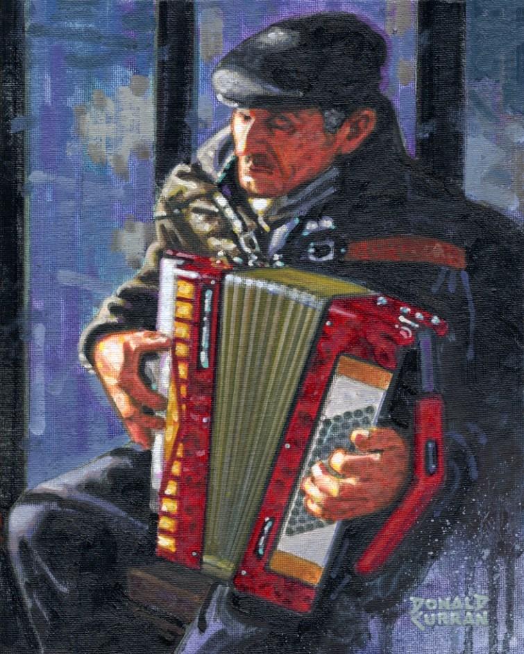 """""""A Soulful Tune"""" original fine art by Donald Curran"""