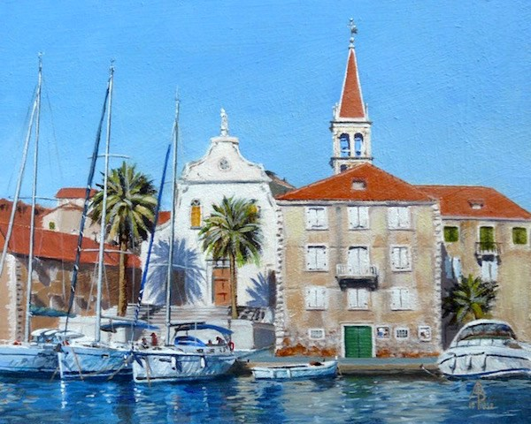 """Milna, Croatia"" original fine art by Alix Baker"