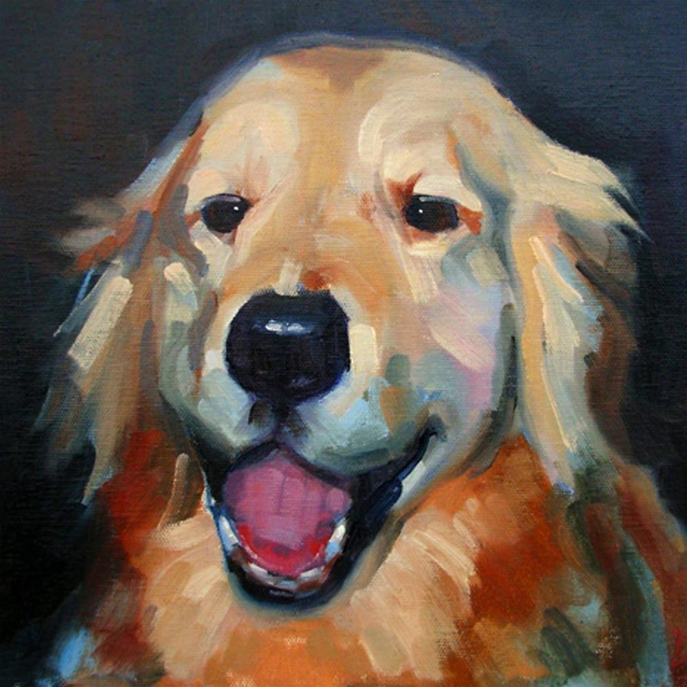 """Angus"" original fine art by Deborah Newman"