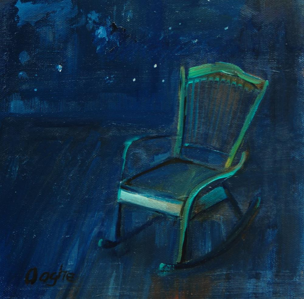 """Green Rocking Chair"" original fine art by Angela Ooghe"