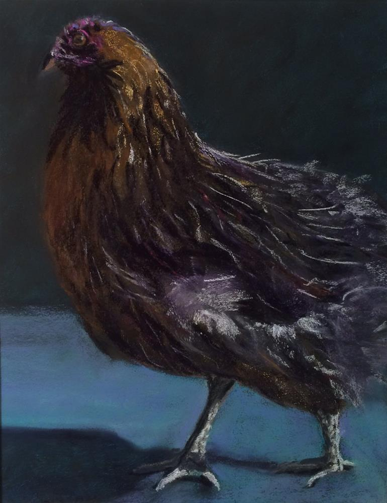"""Funky Chicken IV"" original fine art by Cristine Kossow"