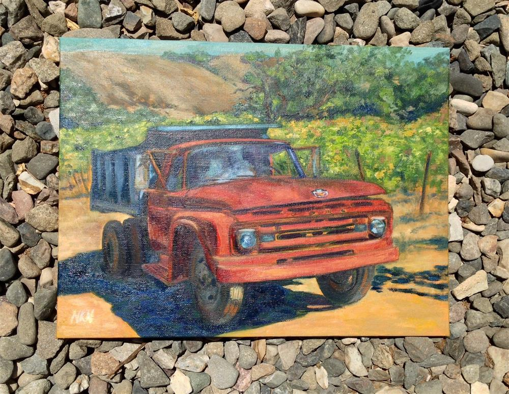 """1962 FORD DUMP TRUCK"" original fine art by Nina K. Nuanes"