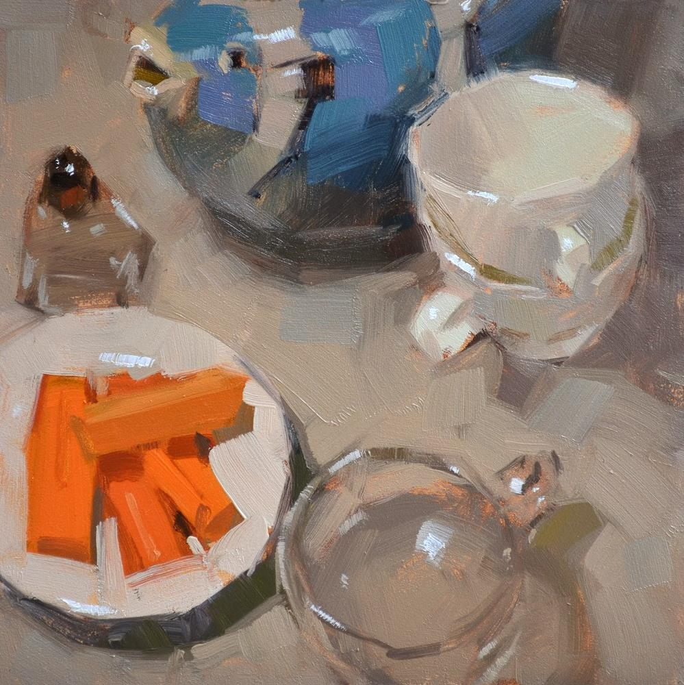"""Fish Tea & Carrots"" original fine art by Carol Marine"