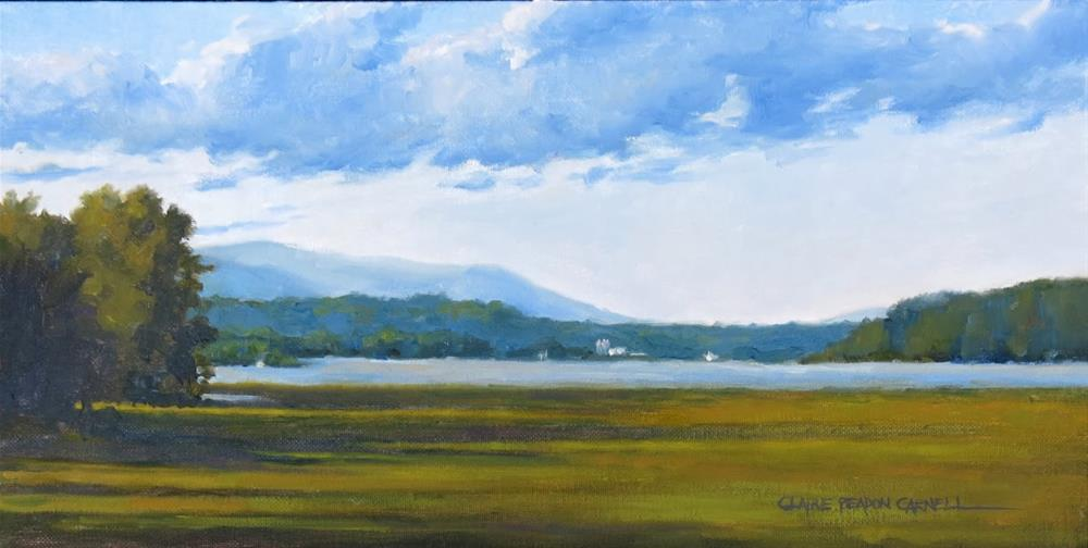 """""""SOLD 'Summer Along the Hudson River' An Original Oil Painting by Claire Beadon Carnell"""" original fine art by Claire Beadon Carnell"""