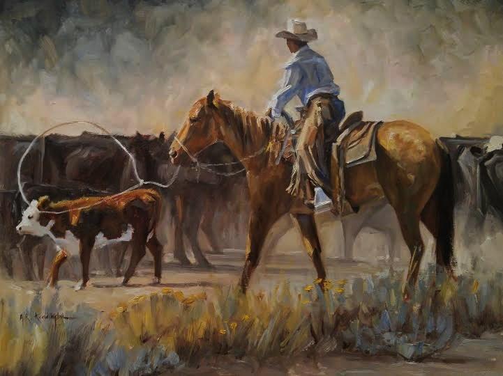 """Day of Dust "" original fine art by Rick Kennington"