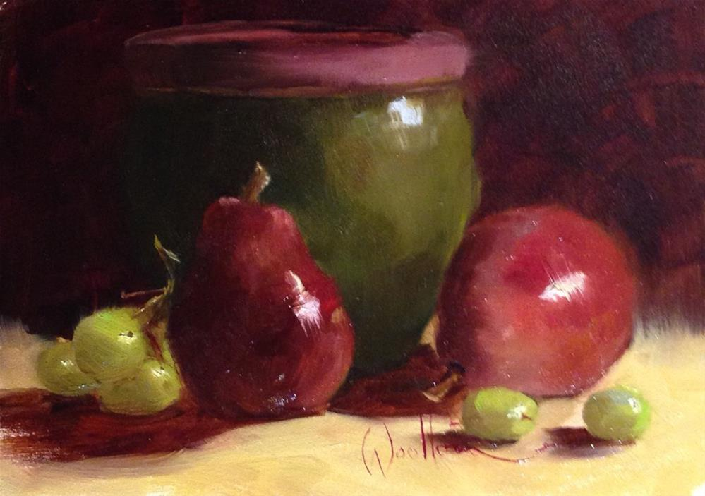 """""""Red Pears"""" original fine art by Dorothy Woolbright"""