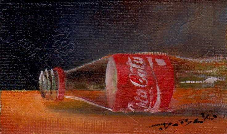 """empty Coca-Cola"" original fine art by V. DeBak"