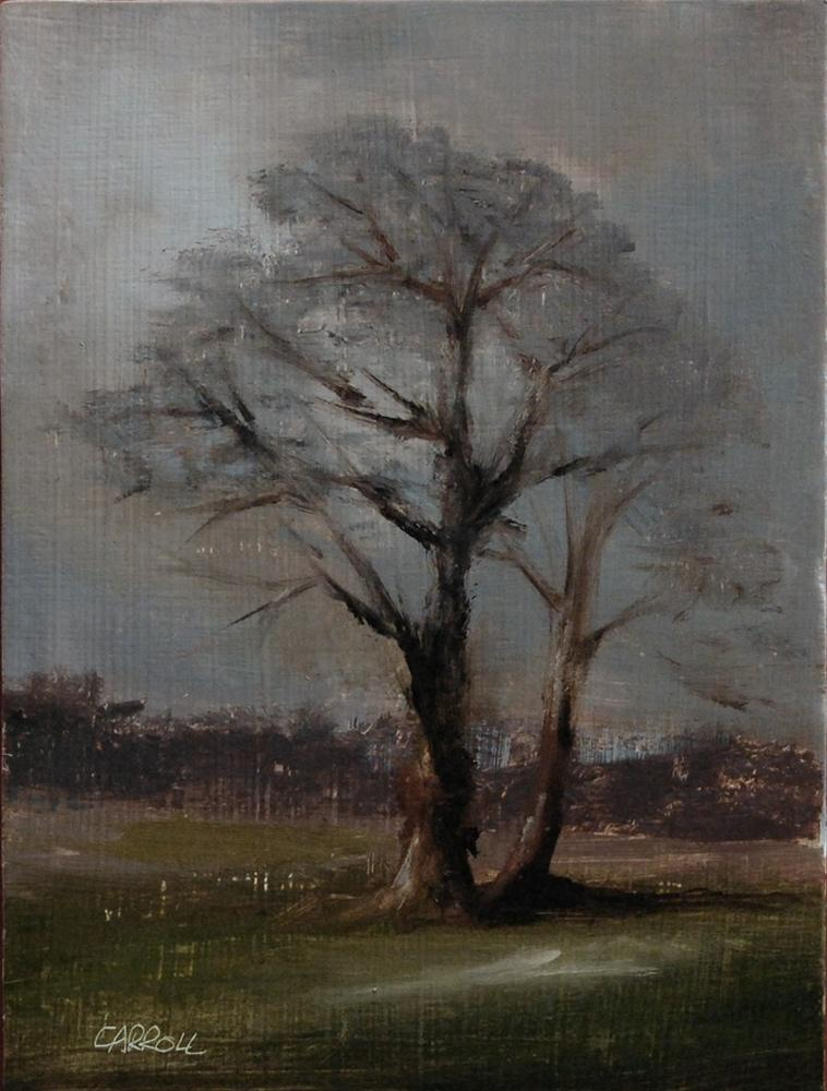 """Two Trees"" original fine art by Neil Carroll"