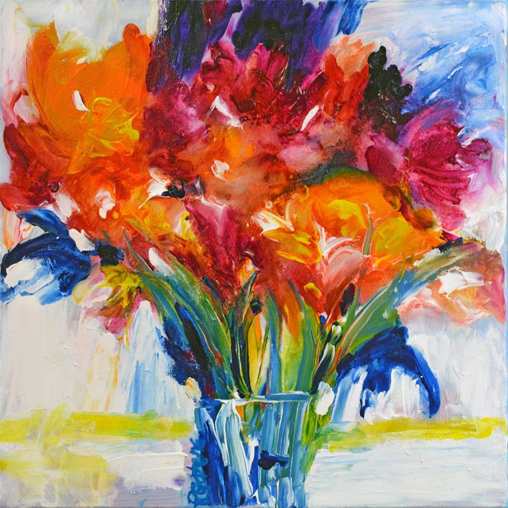 """Flower Shower"" original fine art by Pamela Gatens"