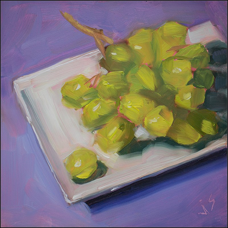 """Grapes on the Loose"" original fine art by Johnna Schelling"