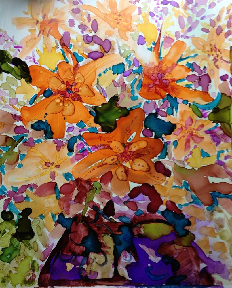 """""""Lilies"""" original fine art by Kelly Alge"""