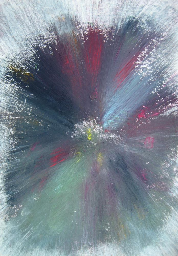 """Floral Splash"" original fine art by Alina Frent"