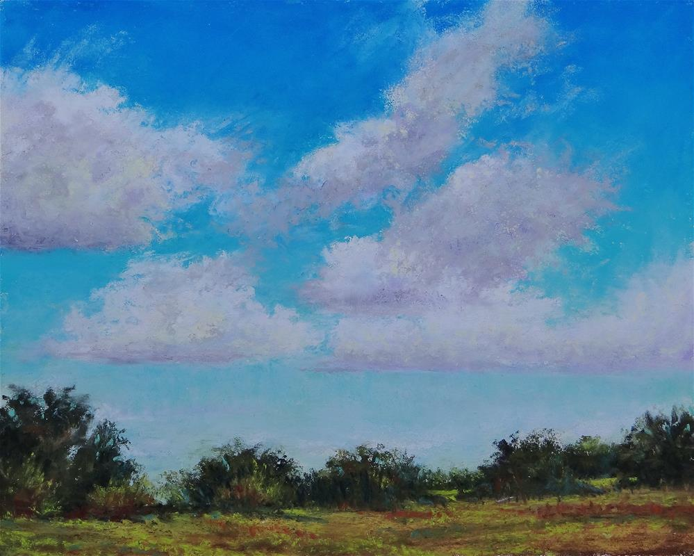 """Blue Skies"" original fine art by Denise Beard"
