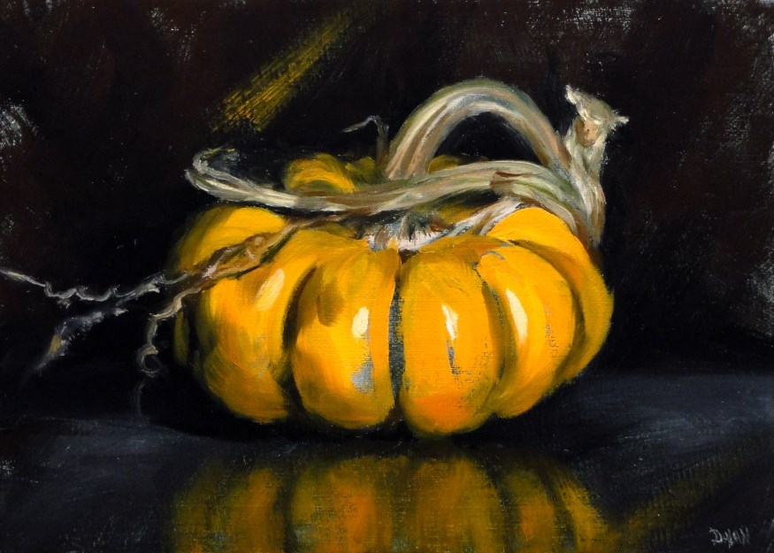 """Baby Pumpkin"" original fine art by Dalan Wells"