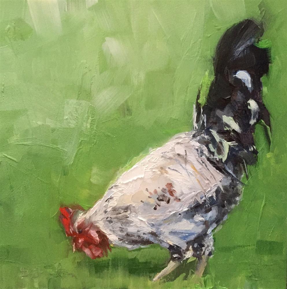 """Free-range Rooster"" original fine art by Gary Bruton"