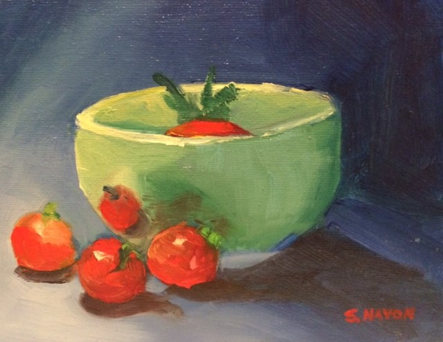 """Bowl with Cherry Tomatoes"" original fine art by Stephanie Navon Jacobson"