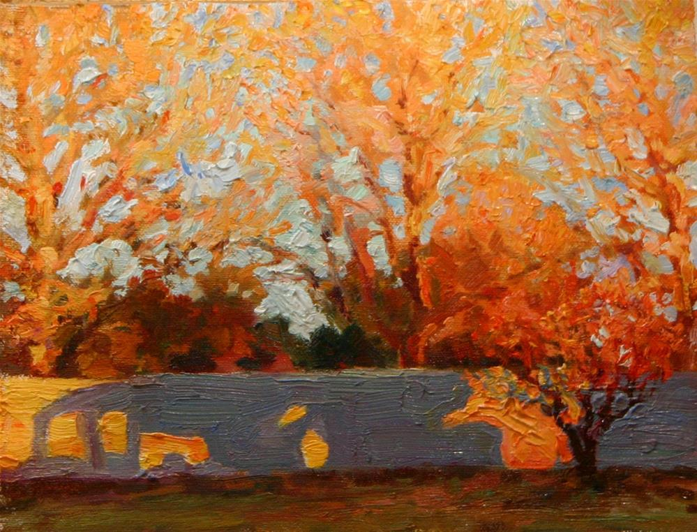 """Colorful Morning"" original fine art by K.R. McCain"