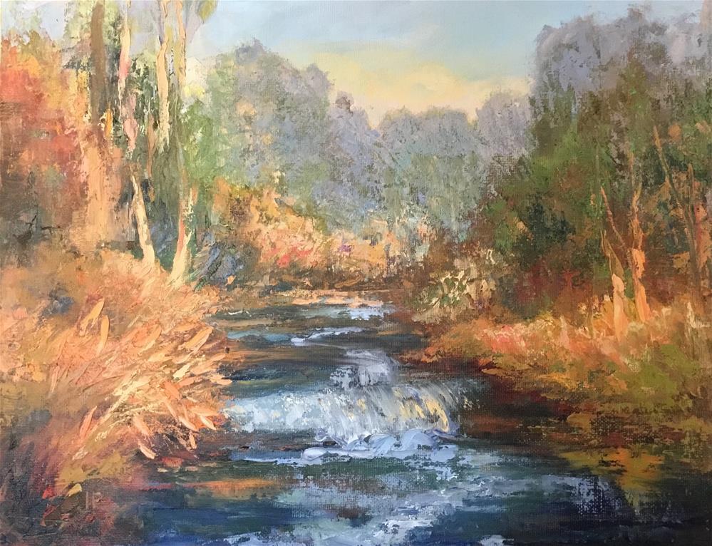"""""""Autumn Stream"""" original fine art by Jean Fitzgerald"""