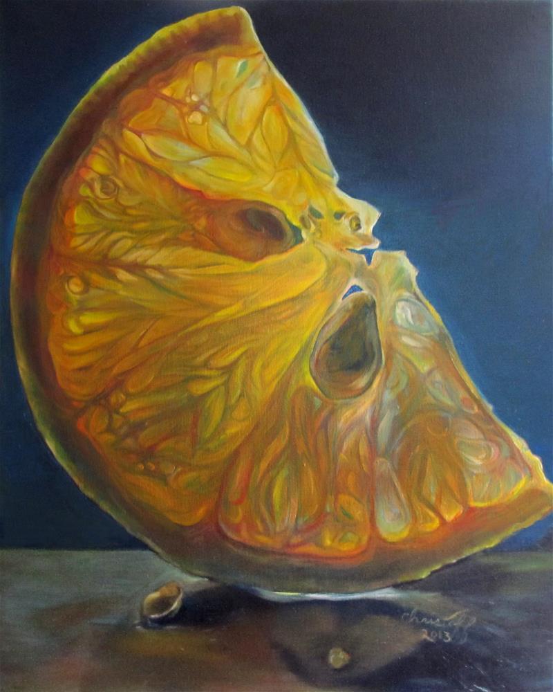 """Orange Juice"" original fine art by emily Christoff-Flowers"