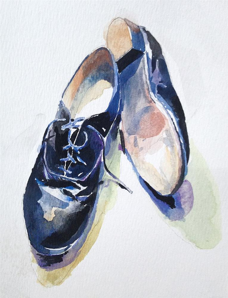 """Father's Shoes"" original fine art by Stephen Ravenscraft"