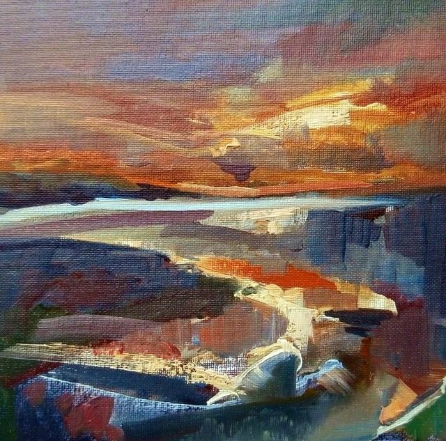 """After Sun"" original fine art by Anne Wood"