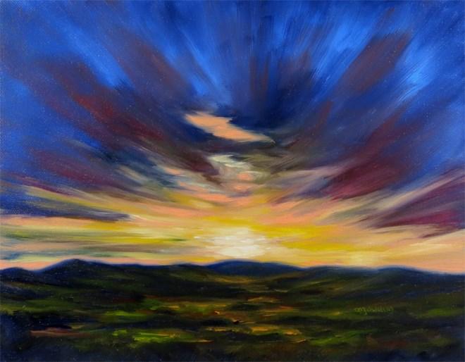 """Blammo"" original fine art by Carol Zirkle"