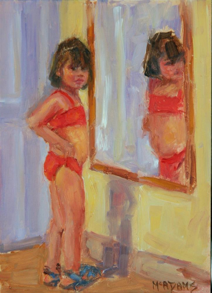 """How do I look?"" original fine art by Phyllis McAdams"