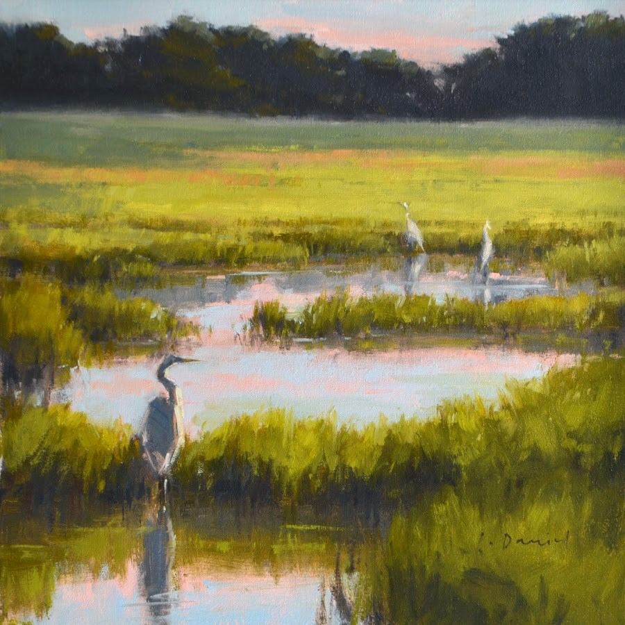 """Standing Watch - Anderson Gallery"" original fine art by Laurel Daniel"