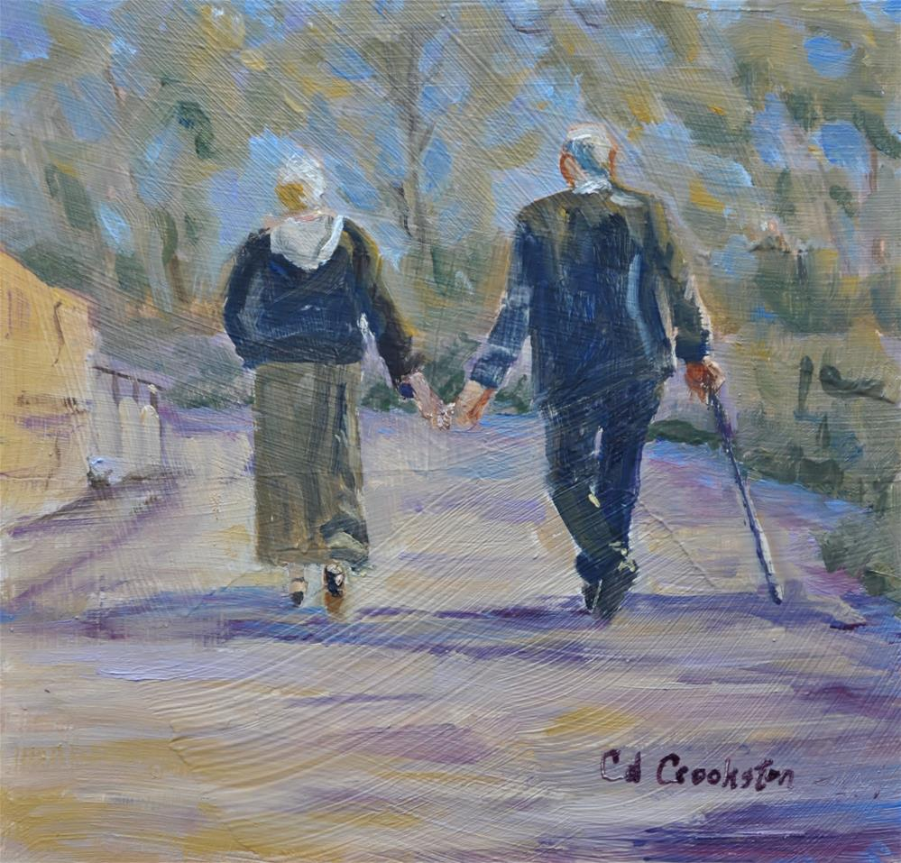 """Life's walk"" original fine art by Catherine Crookston"