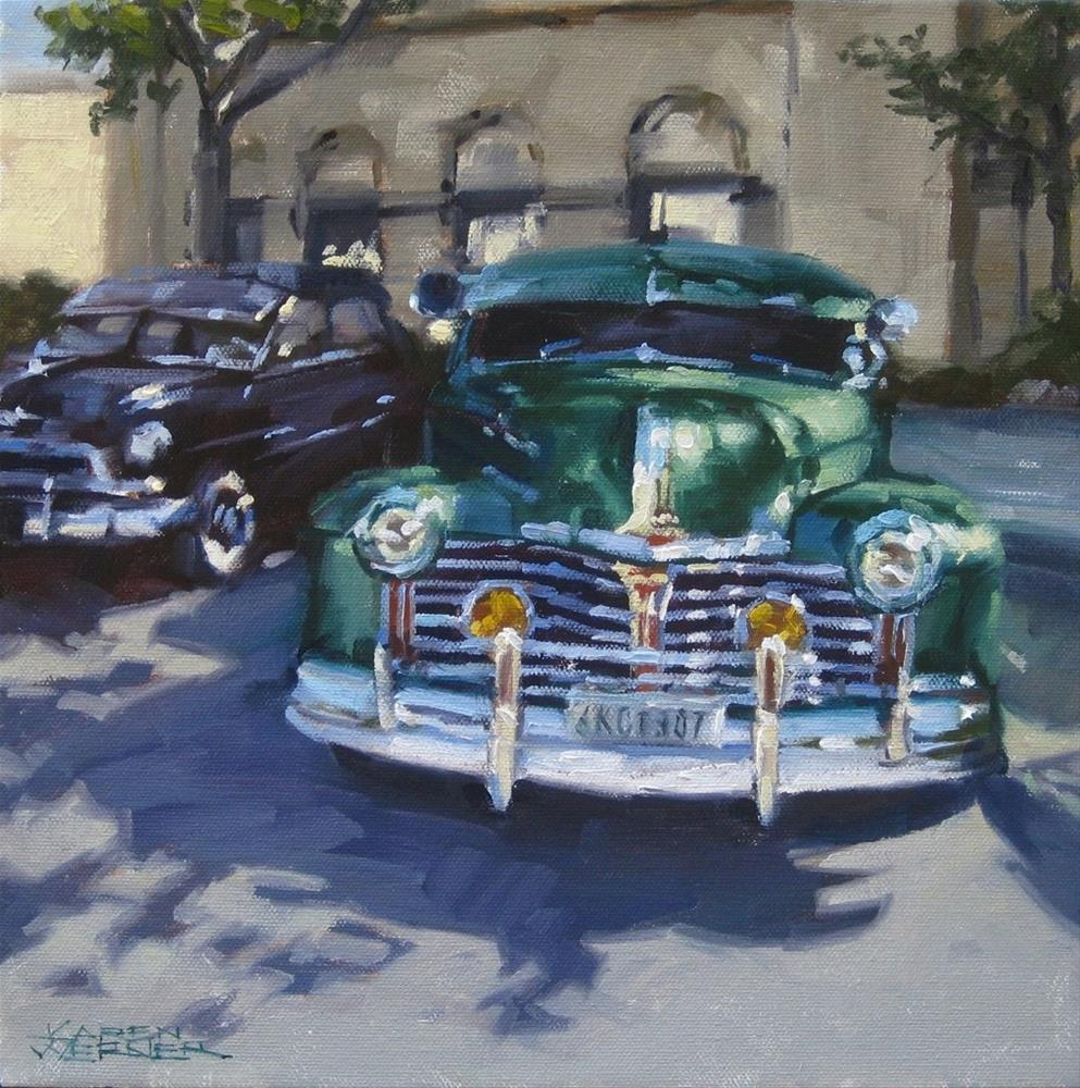 """Car Show"" original fine art by Karen Werner"