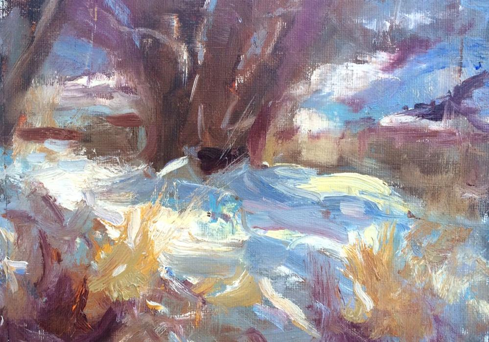 """Snow Patterns "" original fine art by Michael Clark"