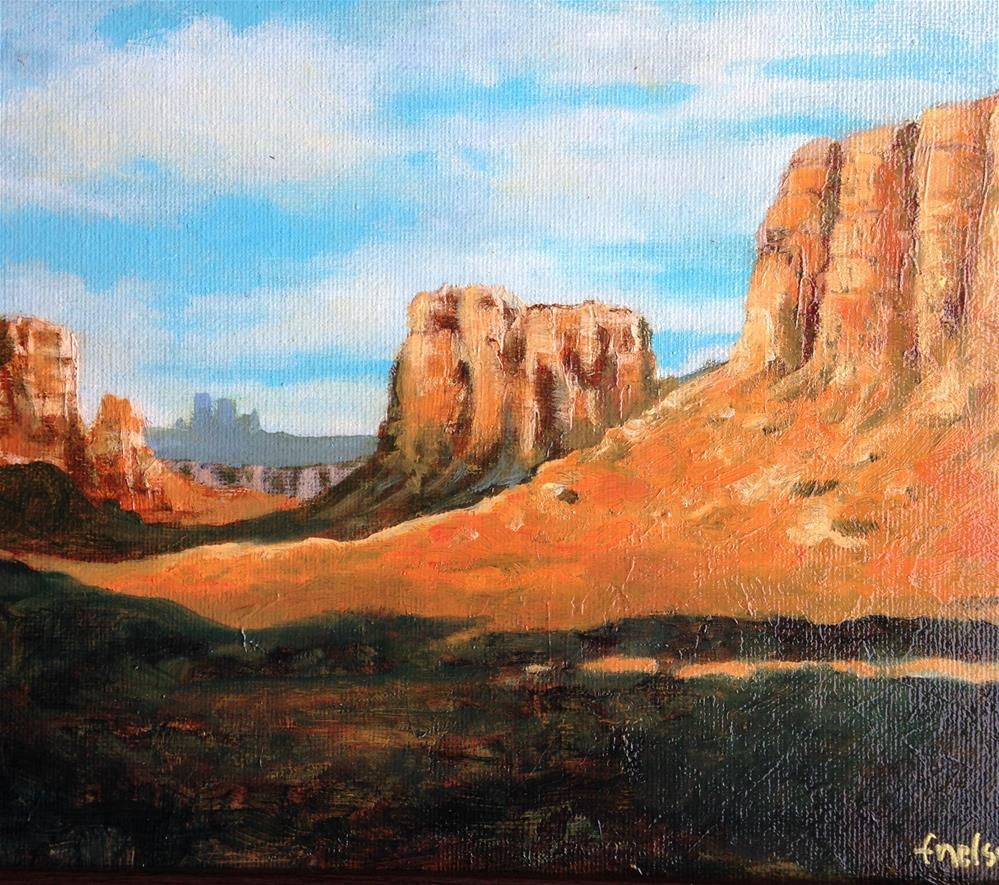 """Western scape"" original fine art by Frank and Liangni Nelson"