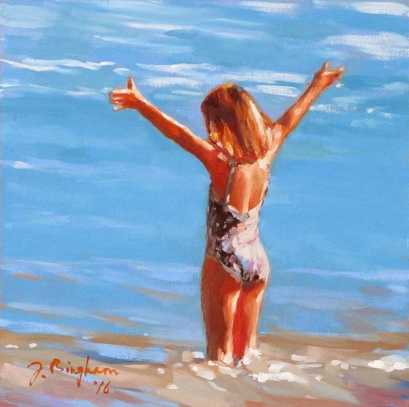 """Happy To Be Back"" original fine art by Joanna Bingham"