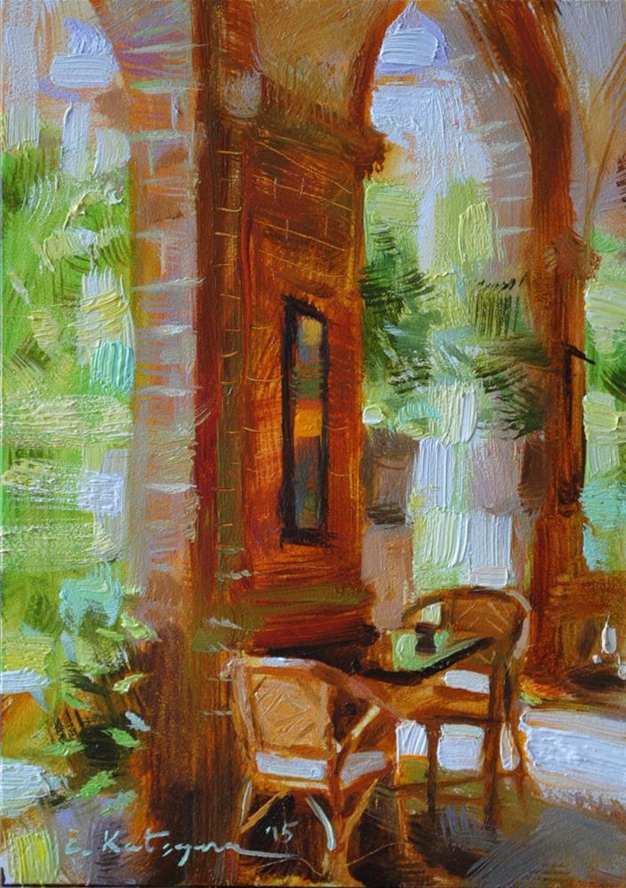 """""""Archway"""" original fine art by Elena Katsyura"""