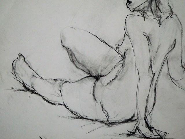 """sketch- at the open studio"" original fine art by Mitsuru Cope"
