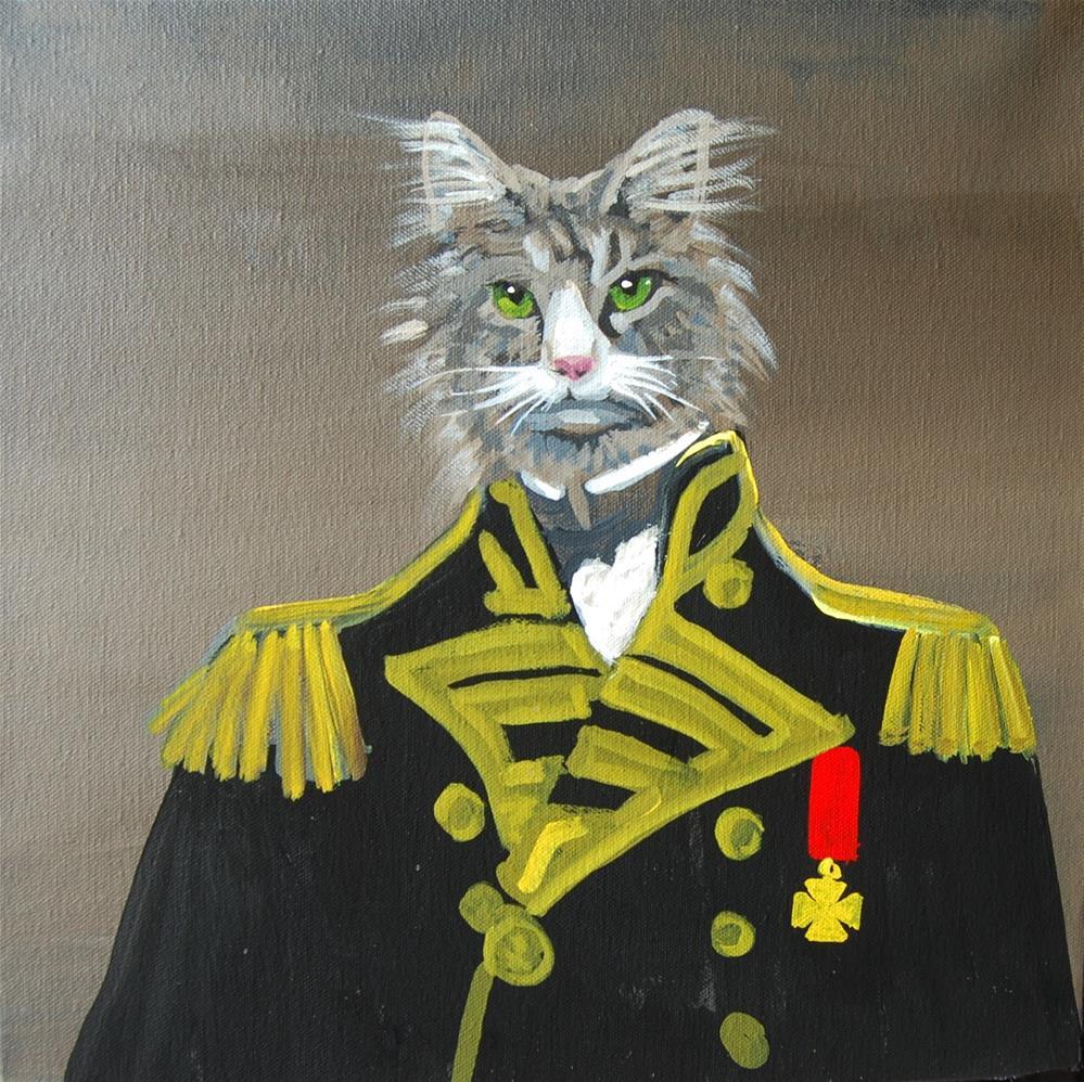 """""""The cat commander"""" original fine art by michael vigneux"""