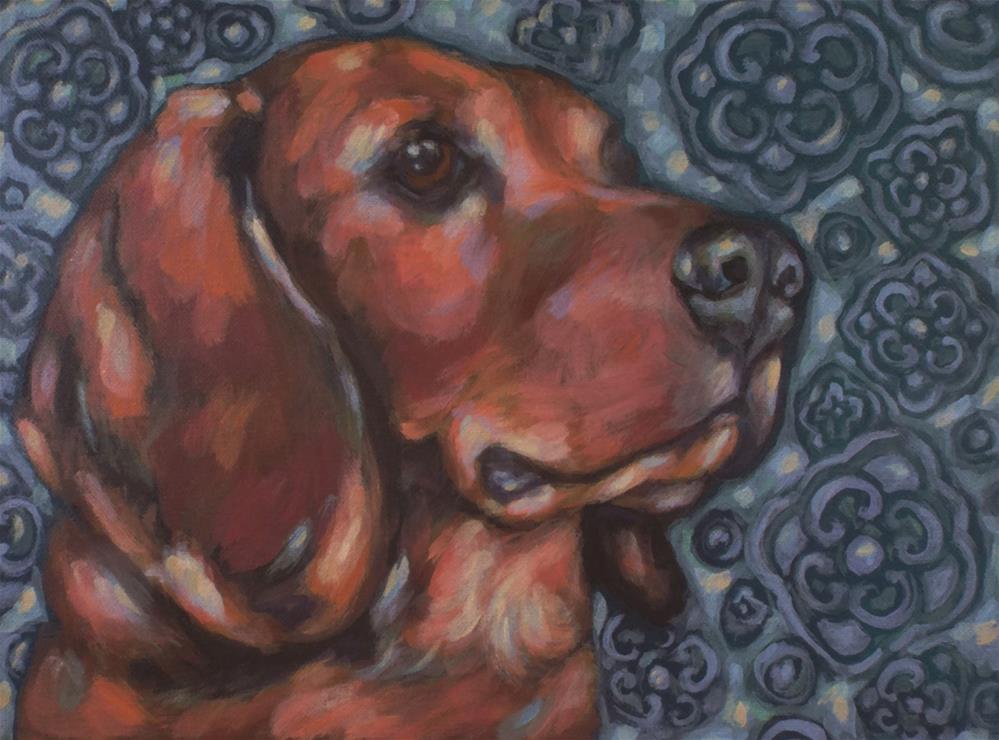 """Sammie"" original fine art by Kathy Hiserman"