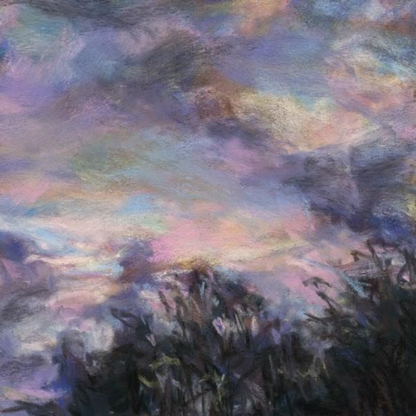 """""""A PINK KISS - 4 1/2 x 4 1/2 sky pastel by Susan Roden"""" original fine art by Susan Roden"""